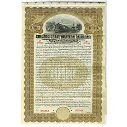 Chicago Great western Railroad Co., 1909 Specimen Bond