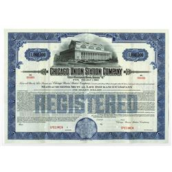 Chicago Union Station Co., ca.1910-1920 Specimen Bond