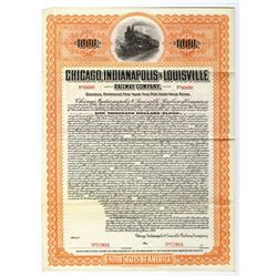 Chicago, Indianapolis & Louisville Railway Co., 1914 Specimen Bond