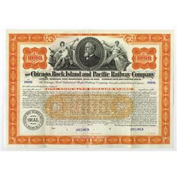 Chicago, Rock Island and Pacific Railway Co., 1898 Specimen Bond