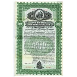Chicago, Rock Island and Pacific Railway Co., 1902 Specimen Bond
