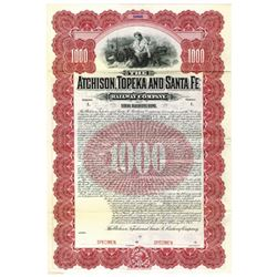 Atchison, Topeka and Santa Fe Railway Co., 1902 Specimen Bond
