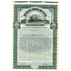 Missouri, Kansas and Texas Railway Co., 1906 Specimen Bond