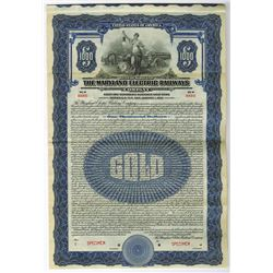 Maryland Electric Railways Co., 1924 Specimen Bond