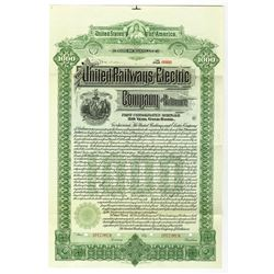 United Railways and Electric Co. of Baltimore, 1899 Specimen Bond