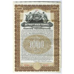 Detroit River Tunnel Co., 1906 Specimen Bond