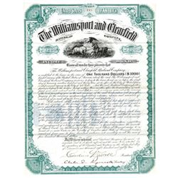 Williamsport and Clearfield Railroad Co., 1882 Issued Bond
