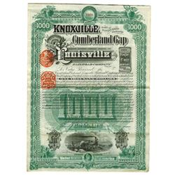 Knoxville, Cumberland Gap and Louisville Railroad Co., 1888 Issued Bond