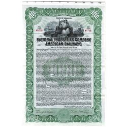 National Properties Co., 1916 Issued Bond