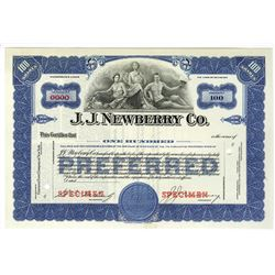 J.J. Newberry Co., Specimen Stock.