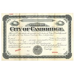 City of Cambridge, ca.1900-1920 Specimen Bond