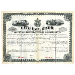 City of Fall River, ca.1900-1920 Specimen Bond