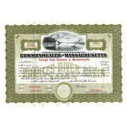 Commonwealth of Massachusetts, ca.1920-1930 Specimen Bond