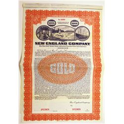 New England Co., ca.1920-1930 Specimen Bond