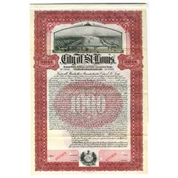 City of St. Louis, 1907 Specimen Bond