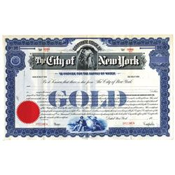 City of New York, 1929 Specimen Bond