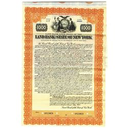 Land Bank of the State of New York, 1931 Specimen Bond