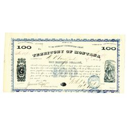 Territory of Montana, 1869 Issued Bond