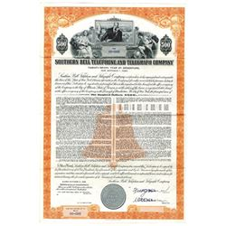 Southern Bell Telephone and Telegraph Co., 1956 Specimen Bond