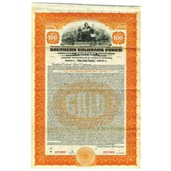 Southern Colorado Power Co., 1922 Specimen Bond