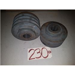 "Set of (2) Pulley 5""1/2"