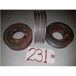 Set of (3) Pulley 5""