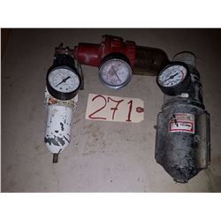 Lot of Assorted Pressure Gage