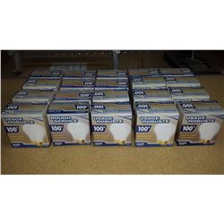 Lot of 20 boxs of two 100w rough service, long life light bulbs