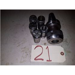 Holder BT-40 to Collet TG-100 with 5 collets