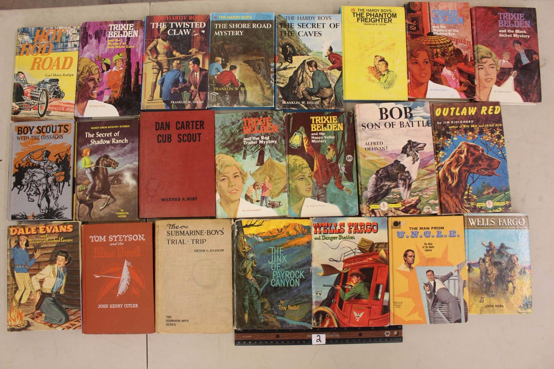 lot of hard covered books 22 the hardy boys trixie belden etc