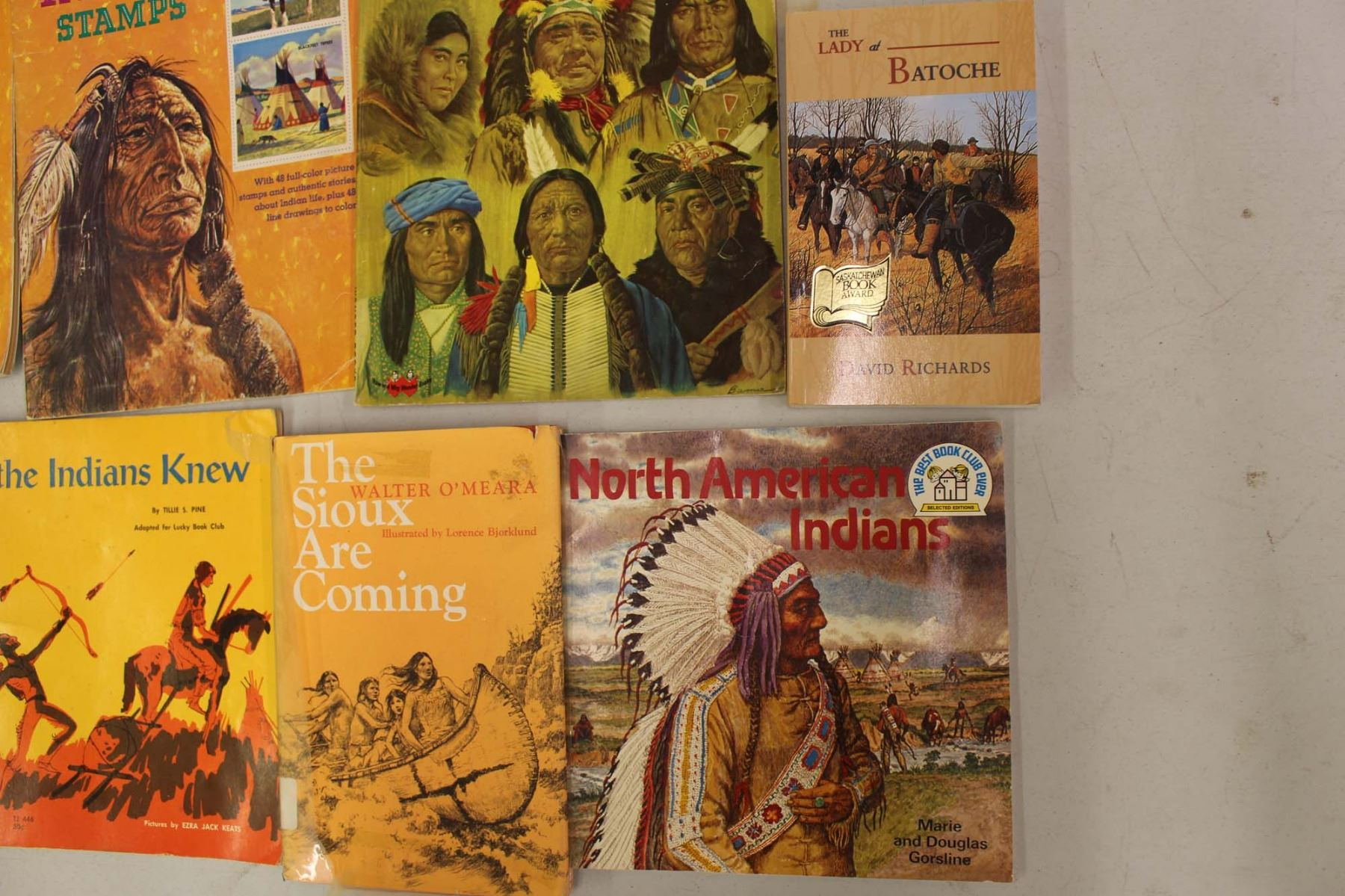 lot of north american aboriginal related books u0026 stamps