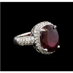 14KT White Gold 7.90 ctw Ruby and Diamond Ring