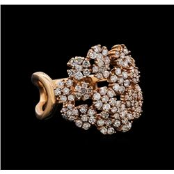 14KT Rose Gold 0.86 ctw Diamond Ring