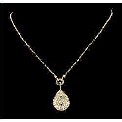 3.02 ctw Diamond Necklace - 14KT Yellow Gold