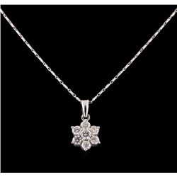 14KT White Gold 1.25 ctw Diamond Pendant With Chain