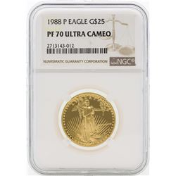 1988-P PF70 Ultra Cameo $25 Gold Eagle