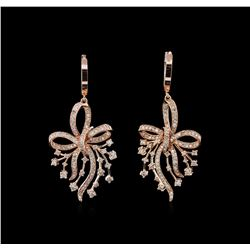 1.77 ctw Diamond Earrings - 14KT Rose Gold