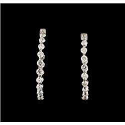 1.47 ctw Diamond Earrings - 14KT White Gold