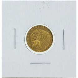 1910 $2 1-2 Indian Head Quarter Eagle Gold Coin CU