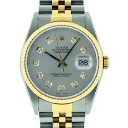 Rolex Two-Tone Diamond Quickset DateJust Men's Watch