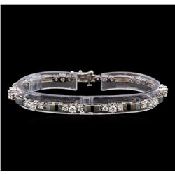 14KT White Gold 2.71 ctw Diamond Bracelet