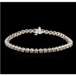 4.82 ctw Fancy Brown Diamond Tennis Bracelet - 14KT White Gold
