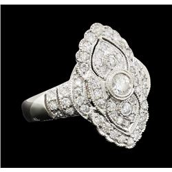 0.90 ctw Diamond Ring - Platinum