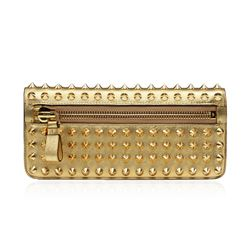 Tom Ford Metallic Studded Gold Zip Clutch