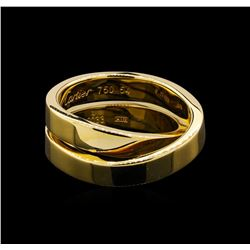 Cartier 18KT Yellow Gold Nouvelle Vague Paris Crossover Band Ring