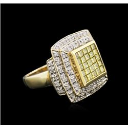 14KT Yellow Gold 1.41 ctw Yellow Diamond Ring