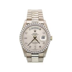Gents Rolex 18KT White Gold President Daydate Watch