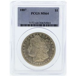 1887 PCGS MS64 Morgan Silver Dollar