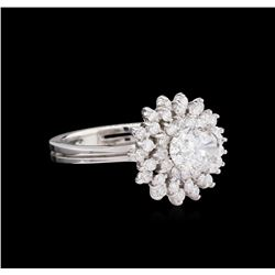 1.73 ctw Diamond Ring - 14KT White Gold