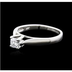 Platinum 0.30 ctw Diamond Solitaire Ring